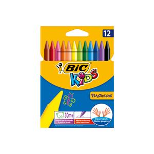 LAPIS CERA BIC KIDS PLASTIDECOR CART.C/12