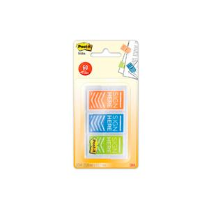 "DISP.POST-IT INDEX SETAS ASSINE AQUI 1"" 3 CORES X 20 INDEX"