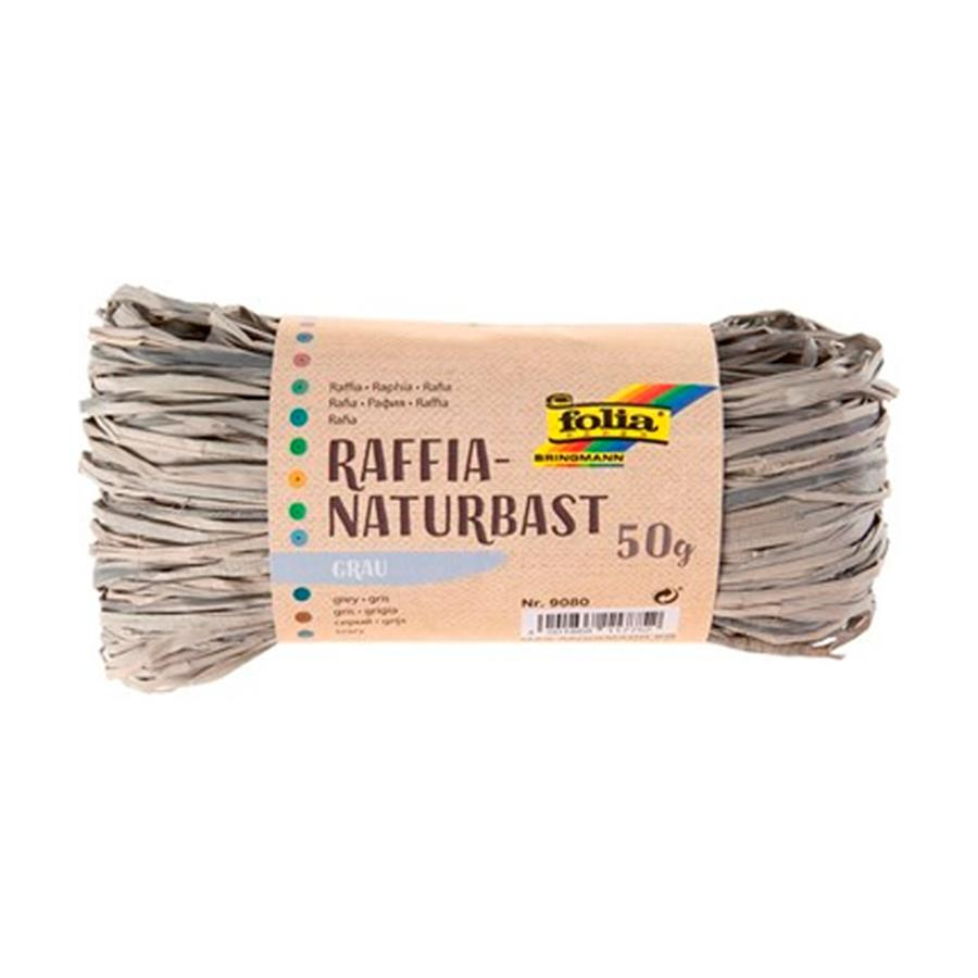 MEADAS RAFIA NATURAL 50G.9080 CINZA